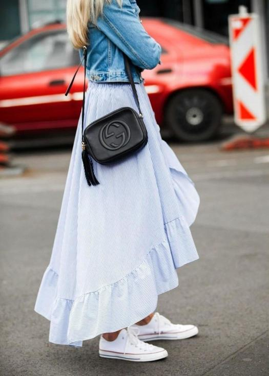 Maje Dream Skirt Meets Denim
